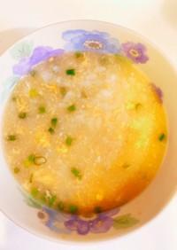 風邪のときにも◎身体温まるおかゆ卵粥雑炊