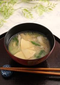 簡単!タケノコと舞茸のお味噌汁