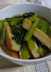 めんつゆで簡単♪小松菜とさつま揚げの煮物