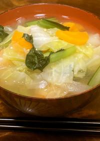 【適塩レシピ】野菜たっぷり適塩みそ汁