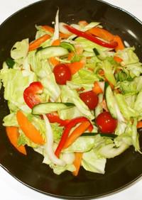 野菜サラダ♪簡単浅漬け風