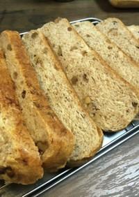 炊飯器で簡単!全粒粉メープルくるみパン