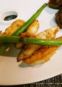 ササミ・マヨ麺つゆ焼き