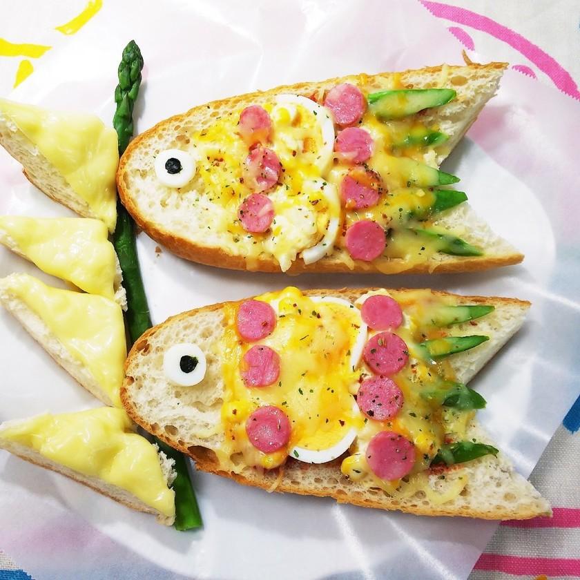 ✨こどもの日*こいのぼりバケットピザ*