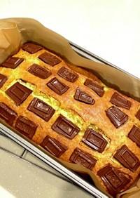 板チョコバナナパウンドケーキ