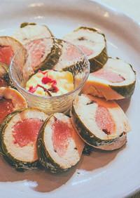 63℃ 和菓子のような桜餅風ロールチキン