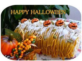 HAPPY ハロウィン ロールケーキ
