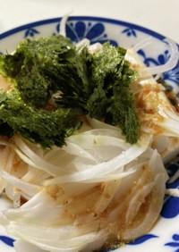 新玉ねぎと海苔の豆腐サラダ