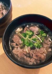 ダシダを使ったキャベツたっぷり肉スープ