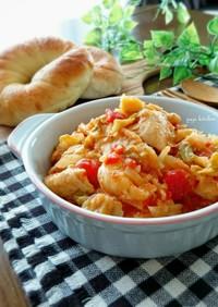 簡単節約☆鶏胸肉とキャベツのトマト煮。