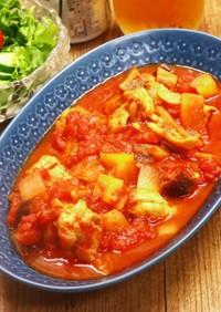 チキンラタトゥイユ トマト缶で簡単!
