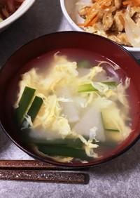蕪と韮玉のスープ
