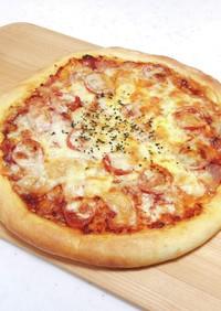 ソースも自家製トマトソースピザ HB生地