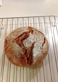 粉、塩、水♪で焼くライ麦パン