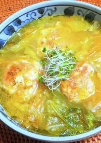 はんぺんチーズボールの食べるスープ