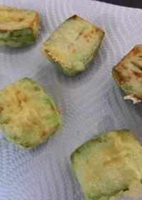 小メロン(摘果メロン)の天ぷら