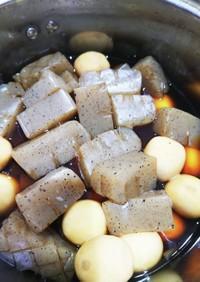 コンニャクと里芋の甘辛煮