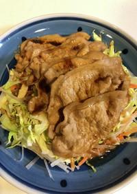 薄切り豚のサラダ