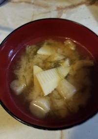 春、筍の味噌汁
