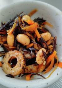 ドライパックで簡単!ひじきと大豆の煮物