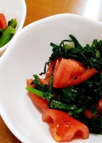春菊とトマトのわさびサラダ