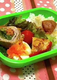 お弁当☆豚肉の野菜巻きとゆで卵
