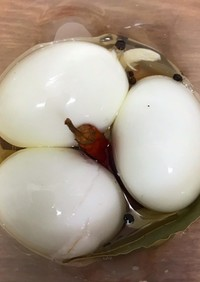 すし酢で☆ゆで卵のピクルス