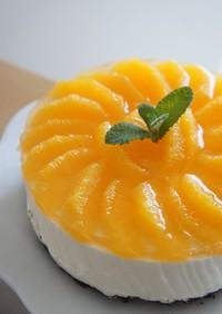焼かないケーキ*オレンジヨーグルトムース