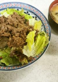 ✨牛肉の大根おろし炒め&ジャガイモ味噌汁