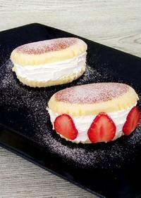 簡単♡チーズ蒸しケーキでマリトッツォ