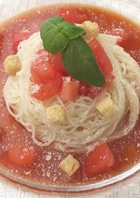 簡単 トマト イタリアン サラダそうめん
