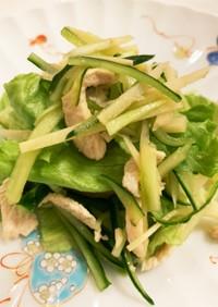 鶏ささみのわさびビネガー サラダ