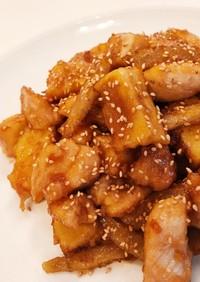高野豆腐入り鶏肉とごぼうの甘辛炒め
