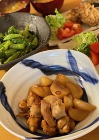 鶏肉とかぶの南蛮酢炒め煮