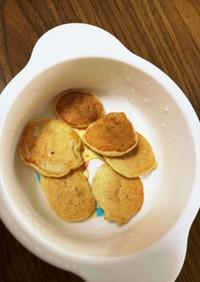 離乳食中期 バナナときな粉のパンケーキ
