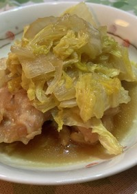 鶏もも肉と白菜の炊いたん