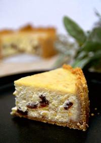 ラムレーズン&オレンジのNYチーズケーキ