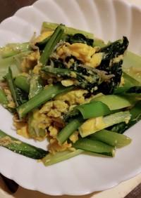 小松菜とじゃこの炒め物