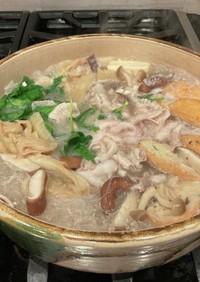 白菜の漬物と豚肉の発酵鍋