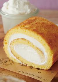 ホットケーキミックスでロールケーキ