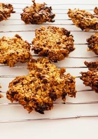 砂糖なしオートミールチョコクッキー