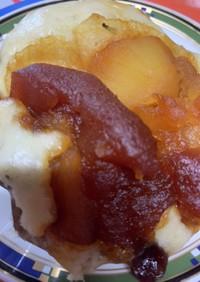 カラメルリンゴとレーズンの塩蒸しパン