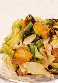 温野菜のおかか塩昆布サラダ
