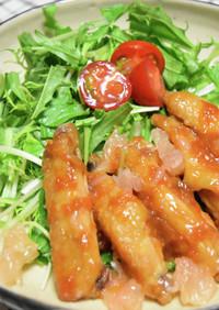 チキンスペアリブの甘辛にんにく照り焼き