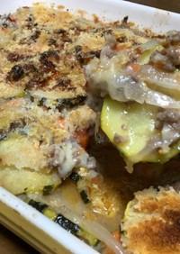 ズッキーニと新玉ねぎのオーブンチーズ焼き