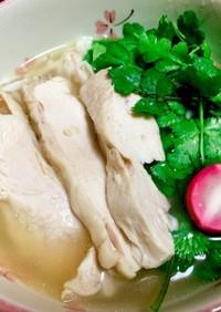 レンジで鶏チャーシュー風蒸し鶏