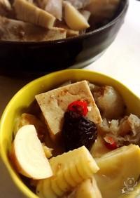 高野豆腐とたけのこの煮物