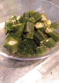 ブロッコリーとオクラの緑緑緑野菜サラダ♪