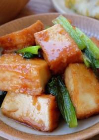 簡単♪厚揚げと小松菜のピリ辛炒め
