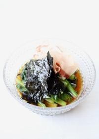 レンジで簡単【小松菜の香りお浸し】